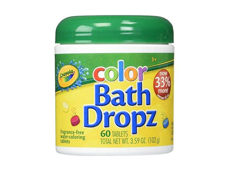 Crayola Color Bath Dropz 3.59 Ounce, 60 Tablets