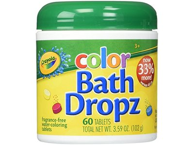 Crayola Color Bath Dropz 3.59 Ounce, 60 Tablets