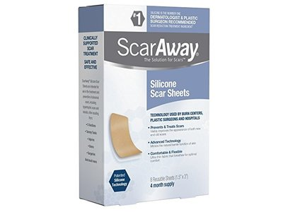 Scaraway Professional Grade Silicone Scar Sheets, 8 ct