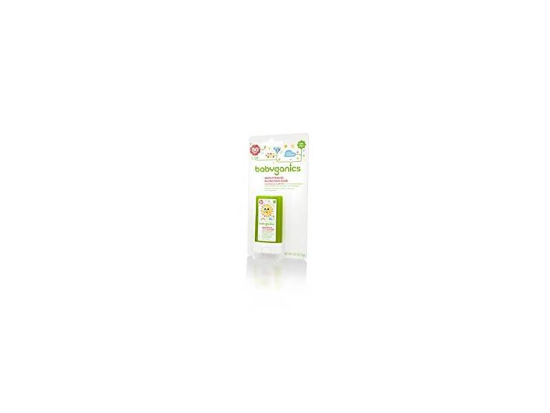Babyganics Pure Mineral Sunscreen Stick SPF 50, 0.47 oz