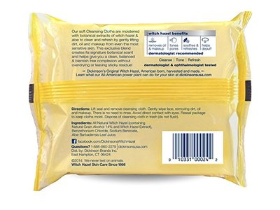 Dickinson's Refreshingly Clean Cleansing Cloths, 25 Count - Image 3