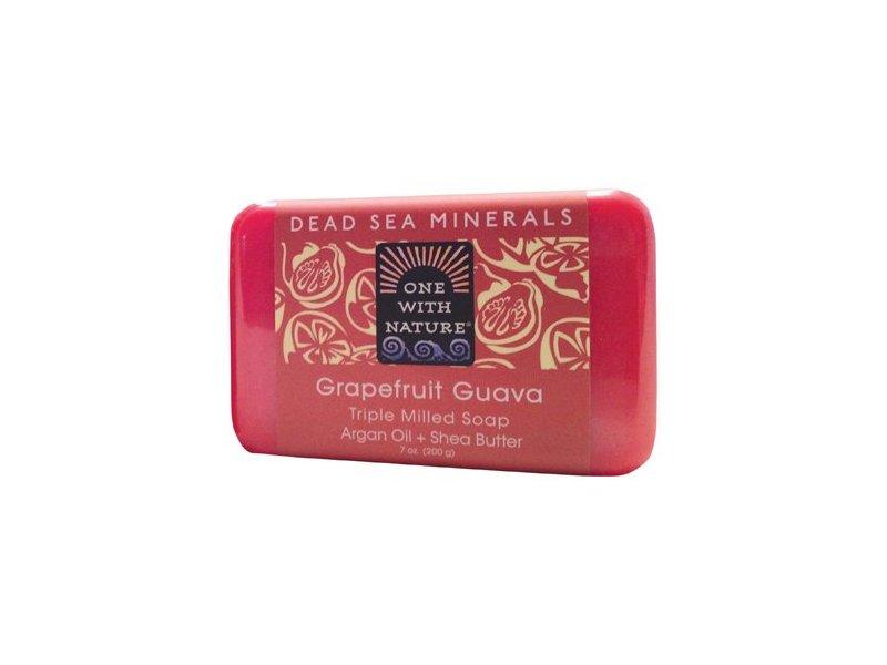 One With Nature Dead Sea Bar Soap, Grapefruit Guava 7 Oz