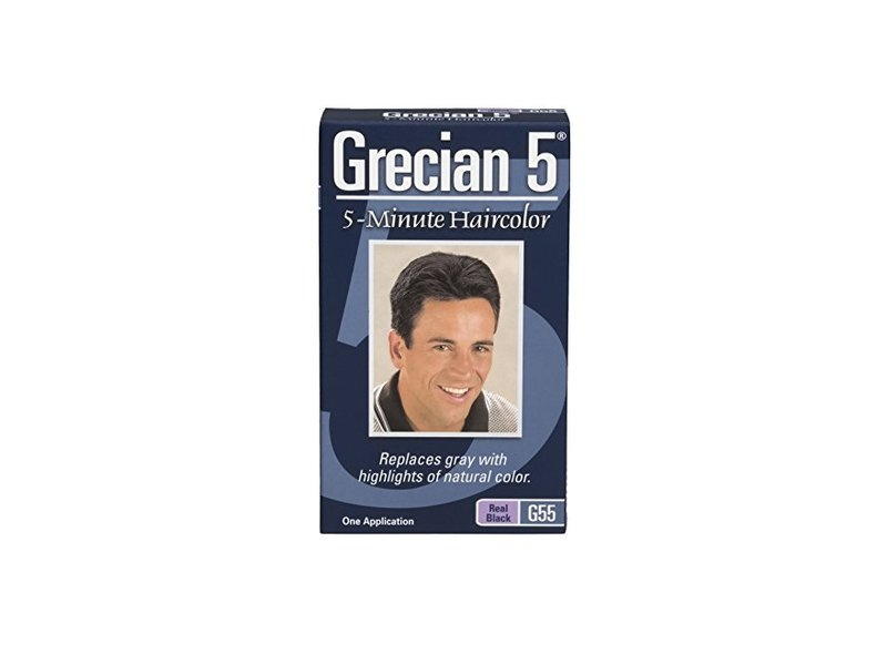 Grecian 5 5-Minute Haircolor - Real Black, Grecian Formula