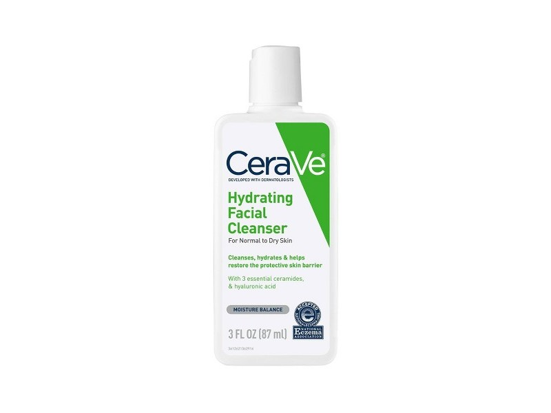 CeraVe Hydrating Facial Cleanser, 3 fl oz