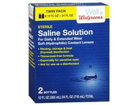 Well At Walgreens Sterile Saline Solution, 12 fl oz (Pack of 2) - Image 2