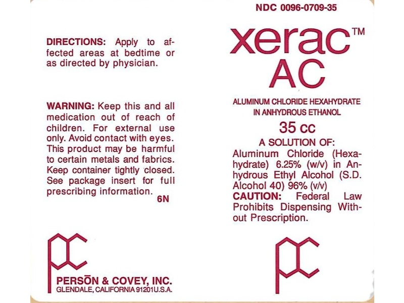 Xerac AC Solution (RX), 35 ml, Person And Covey