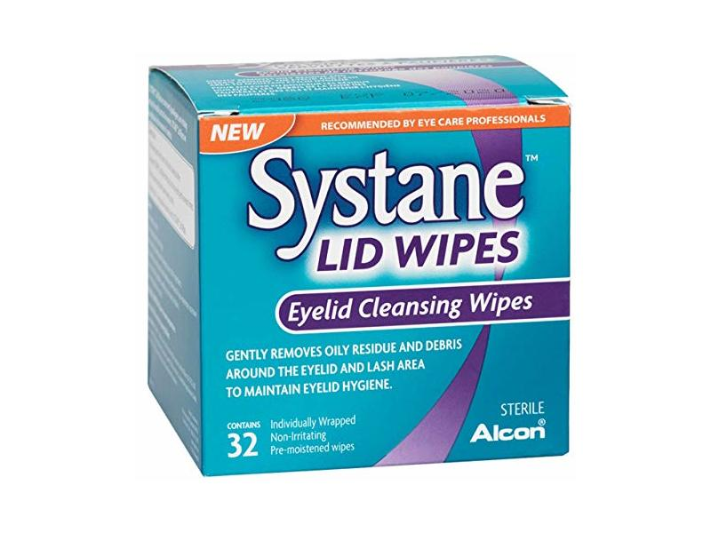 Systane Lid Wipes Eyelid Cleansing Wipes, 32