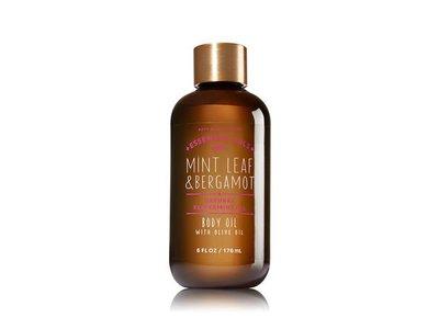 Bath & Body Works Essential Oils Body Oil, Mint Leaf & Bergamot, 6 fl oz