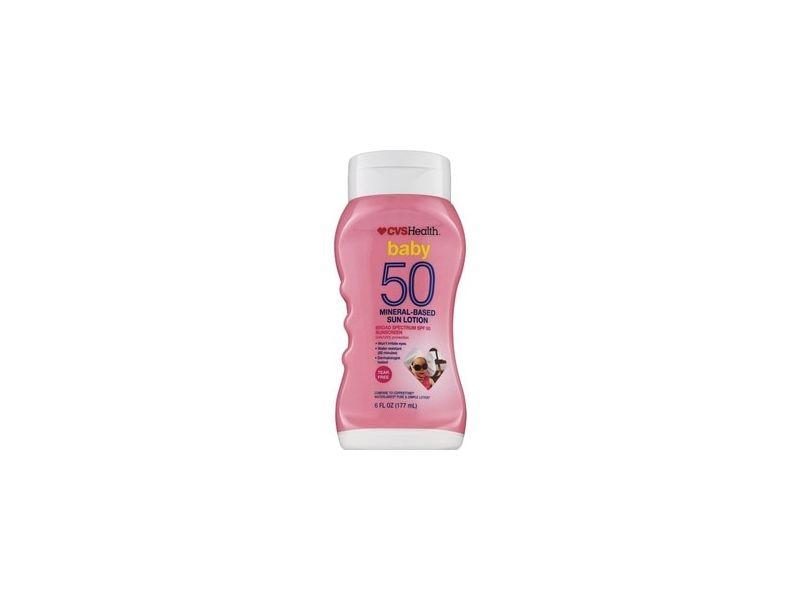 CVS Health Baby SPF 50 Mineral-Based Sun Lotion