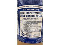 Dr. Bronner's Castile Liquid Soap, Peppermint, 1 Gal - Image 4