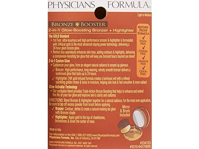 Physicians Formula Bronze Booster 2-in-1 Bronzer and Highlighter, Light to Medium, 0.38 Ounce - Image 4