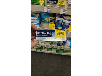 Preparation H Hemorrhoidal Cream Rapid Relief with Lidocaine, 1.0 oz - Image 4