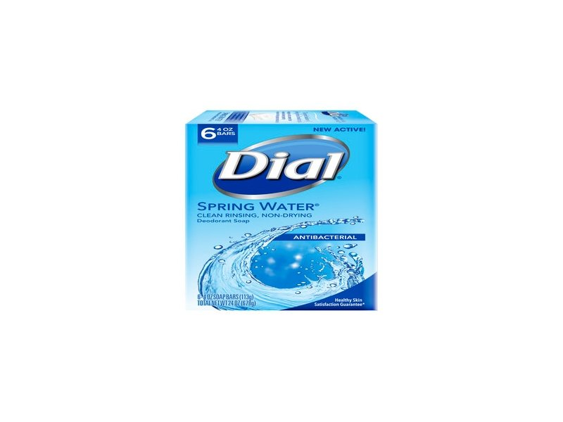 Dial Antibacterial Deodorant Bar Soap Spring Water