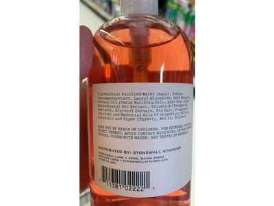 Stonewall Kitchen Grapefruit Thyme Hand Soap, 16.9 Ounce Bottle - Image 4