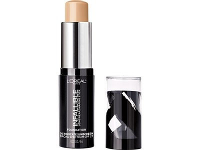 L'Oreal Paris Makeup Infallible Longwear Foundation Shaping Stick, 404 Shell Beige, 0.3 oz. - Image 3