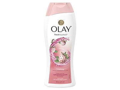 Olay Fresh Outlast Cooling White Strawberry & Mint Body Wash, 22 oz