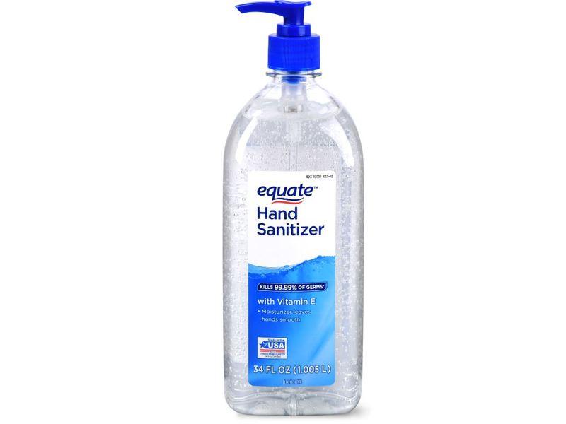 Equate Hand Sanitizer, Vitamin E, 34 fl oz