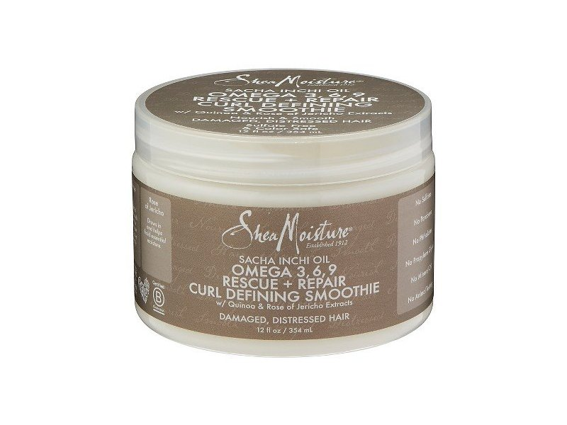 SheaMoisture Sacha Inchi Oil Omega 3, 6, 9 Rescue + Repair Curl Defining Smoothie, 12 oz
