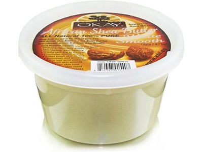 Okay Shea Butter Jar White, 16 oz