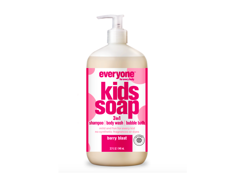 Everyone Kids Soap 3-in-1 Shampoo, Body Wash, Bubble Bath, Berry Blast, 32 fl oz