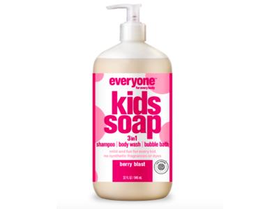 Everyone Kids Soap 3-in-1 Shampoo, Body Wash, Bubble Bath, Berry Blast, 32 fl oz