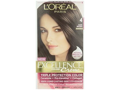 L'Oreal Excellence Creme with Pro-Keratine Complex, Dark Brown