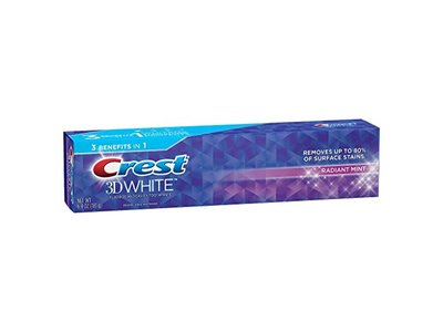 Crest 3D White Whitening Toothpaste, Radiant Mint, 6.4 oz - Image 1