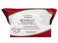 L'Oreal Paris RevitaLift Radiant Smoothing Wet Cleansing Towelettes - Image 2