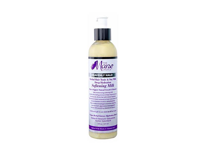 The Mane Choice Heavenly Halo Deep Hydration Softening Milk, Herbal Hair Tonic & Soy Milk, 8 fl oz
