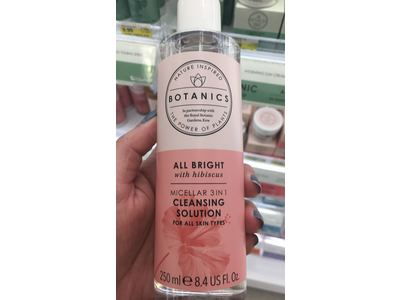 Botanics All Bright with Hibiscus Micellar 3 in 1 Cleansing Solution, 8.4 fl oz - Image 3