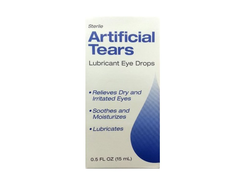 Sterile Artificial Tears Lubricant Eye Drops, 0.5 fl oz