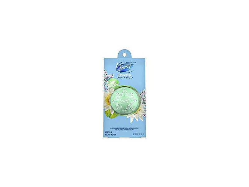 Secret Freshies Invisible Solid Antiperspirant and Deodorant, Cool Waterliily, 0.5 oz