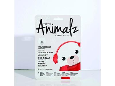 masqueBAR Pretty Animalz Polar Bear Sheet Mask - Image 3