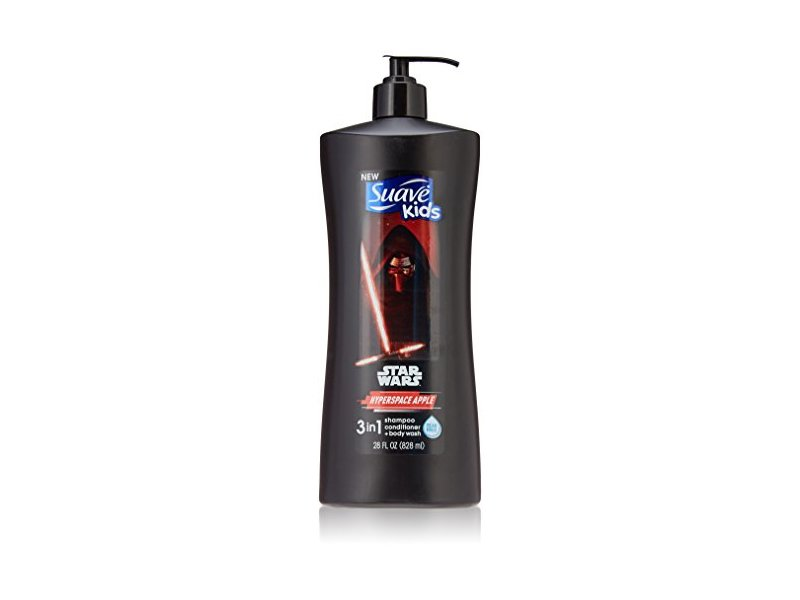 Suave Kids 3-In-1 Shampoo + Conditioner+ Body Wash Star Wars Kylo Ren Hyperspace Apple, 28 Ounce