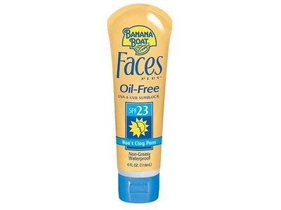 Banana Boat Faces PLUS Sunblock Lotion, SPF 23, 4 Fluid Ounces