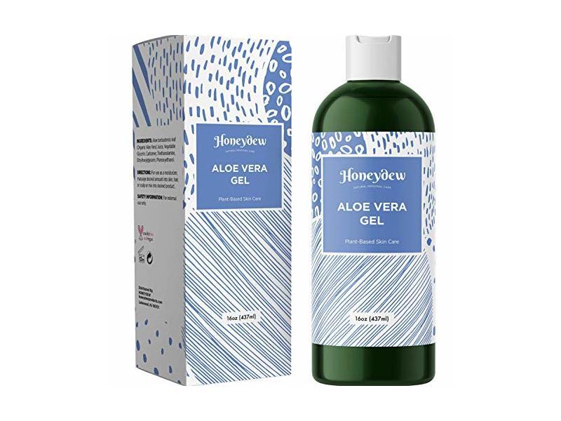 Honeydew Pure Aloe Vera Gel Plant Based Sun Care Moisturizer, Unscented, 16 oz/437 ml