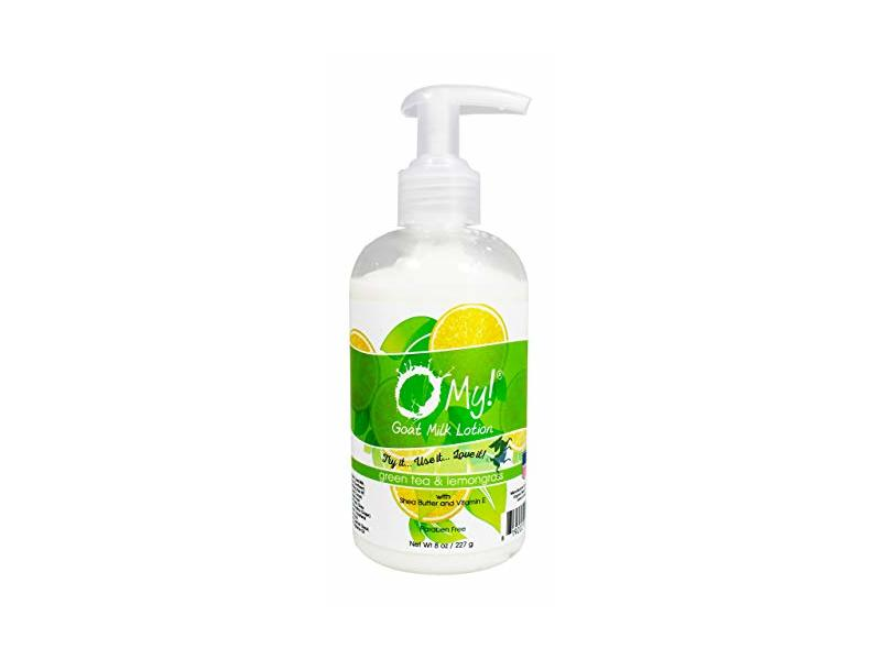O My! Goat Milk Lotion, Green Tea & Lemongrass, 8 fl oz