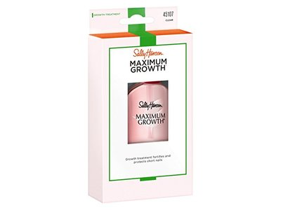 Sally Hansen Maximum Growth Treatment, Clear, 0.45 fl oz (Pack of 2)