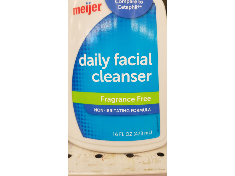 Meijer Daily Facial Cleanser, Fragrance-Free, 16 fl oz