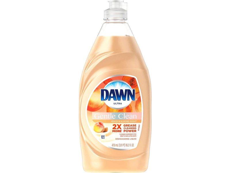 Dawn Ultra Gentle Clean Dishwashing Liquid, Peach & Almond Scent, 16.2 fl oz / 473 ml