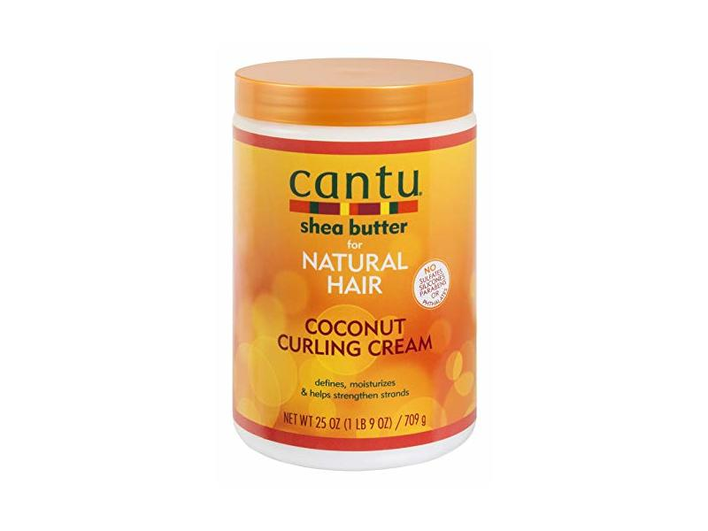 Cantu Natural Hair Coconut Curling Cream 25 Ounce (2 Pack)