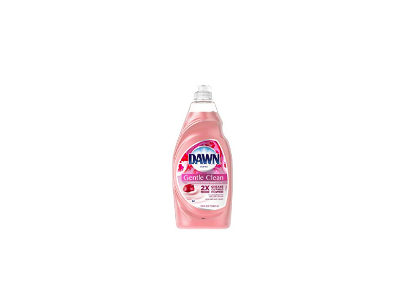 Dawn Ultra Gentle Clean Dishwashing Liquid Dish Soap, Pomegranate & Rose Water Scent, 24 fl oz