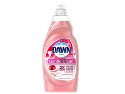 Dawn Ultra Gentle Clean Dishwashing Liquid Dish Soap, Pomegranate & Rose Water Scent, 24 fl oz