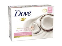 Dove Purely Pampering Beauty Bar, Coconut Milk with Jasmine Petals, 4 oz (8 pack) - Image 2