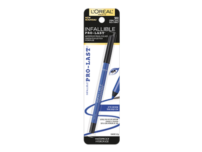 L'Oreal Paris Infallible Pro-Last Waterproof Pencil Eyeliner, Cobalt Blue, 0.042 oz/1.2 g - Image 1