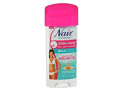 Nair Hair Remover Glides Away Nourish With Argan Oil, 3.3 Ounce (97ml)