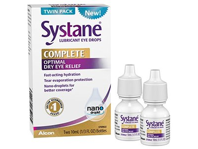 Systane Complete Lubricant Eye Drops, 2x10mL