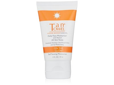 TanTowel On The Glow Daily Face Moisturizer with Retinol, 2 oz