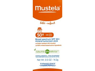 Mustela Broad Spectrum SPF 50-Plus Mineral Sunscreen Stick, 0.5 oz. - Image 4