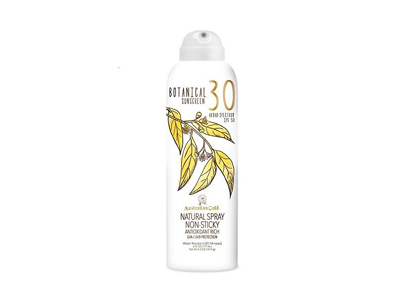 Australian Gold Botanical Sunscreen SPF 30 Natural Spray, 6 Fl Oz